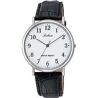 [シチズン キューアンドキュー]CITIZEN Q&Q 腕時計 Falcon ファルコン アナログ 革ベルト ホワイト Q996-304 メンズ