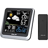 Baldr Color LCD Weather Station Clock Wireless Temperature Humidity Barometer,Moon Phase,Alarm Clock