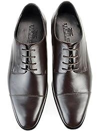 [ルシウス] LUCIUS 本革 ビジネスシューズ メンズ 革靴 外羽根 ストレートチップ レースアップ ロングノーズ ドレスシューズ レザー 日本製 紳士靴 【LLT77-3-CPZ】 ブラック ダークブラウン