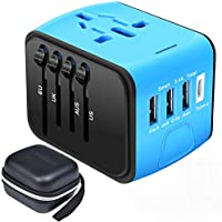 Travel Adapter,Universal Travel Adapter,All-in-one International USB Travel Adapter with High Speed 2.4A 4-Port USB...