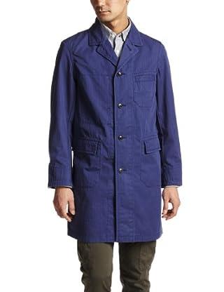 Beste Herringbone Cotton Shop Coat 3225-199-1572: Navy