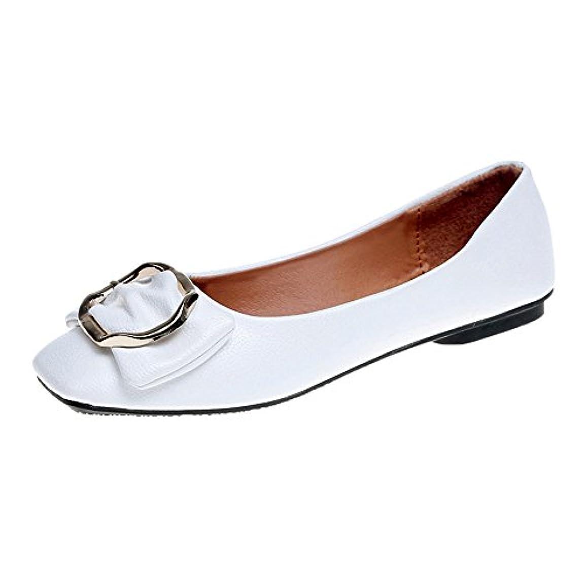 エスカレートハッピー単にレディースフラットシューズHodarey 女性 弓 スクエアヘッド スクエアバックル 浅シングルシューズ 歩きやすい 通気性 おしゃれ プラットシューズ ファッション カジュアル シューズ 女性の靴 アウトドアトシューズ 通勤 通学 普段着