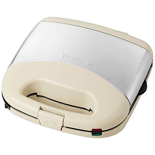 """[해외]Vitantonio 와플 & 핫 샌드 베이커 프리미엄 세트 """"아이보리   VWH-32""""[베이킹 팬 3 종 포함]/Vitantonio Waffle & Hot Sand Baker Premium Set """"Ivory   VWH - 32"""" [with 3 baking types]"""