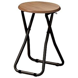 椅子 折り畳み スツール ブラウン PFC-M18 (BR)