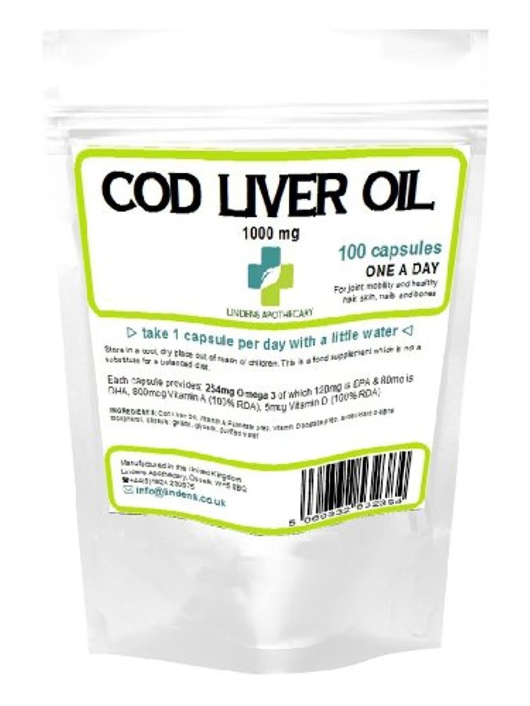 生産性啓発する二度高強度肝油1000ミリグラム 100カプセル