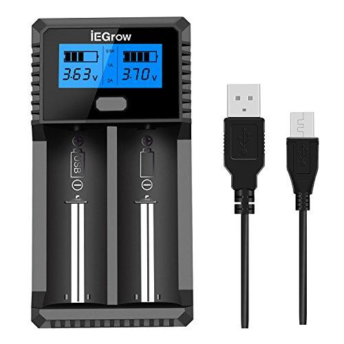 iEGrow ZH221C 18650 充電器 USB出力機...