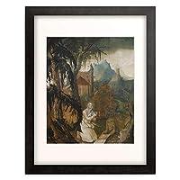 Leu, Hans (Umkreis) 「Saint Jerome in the Wilderness. 1515.」 額装アート作品