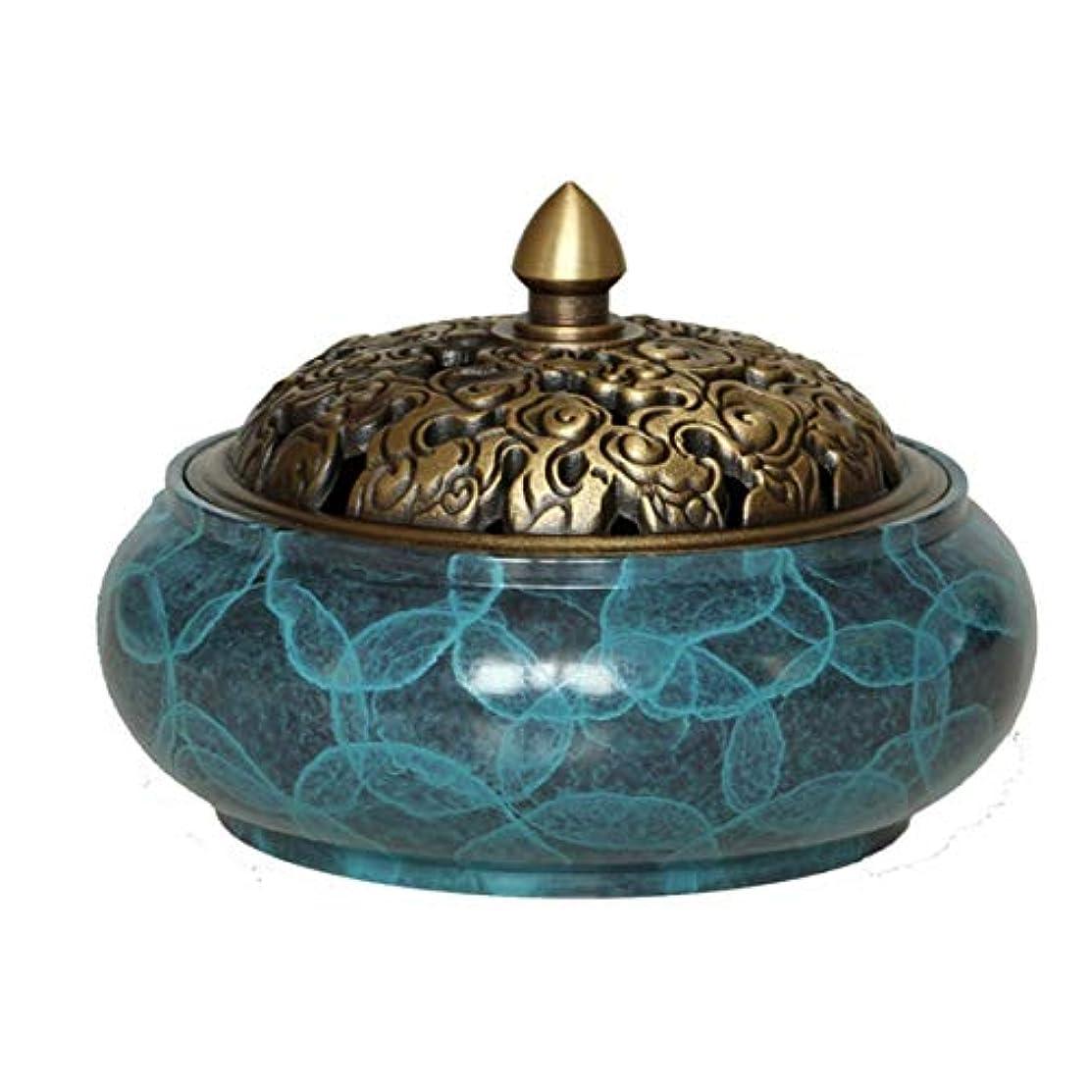 軽減するブッシュ海洋銅線香ホルダーバーナー銅製の灰キャッチャートレイボウル、家、オフィス、茶屋、瞑想、ヨガなどのための真鍮線香ホルダー