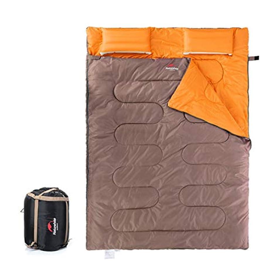 ストレッチ革新ブローYIJUPIN 2人用薄型寝袋アウトドアトラベル4シーズンライナーキャンプコットンワイド化と厚い寝袋/グリーン (色 : オレンジ)
