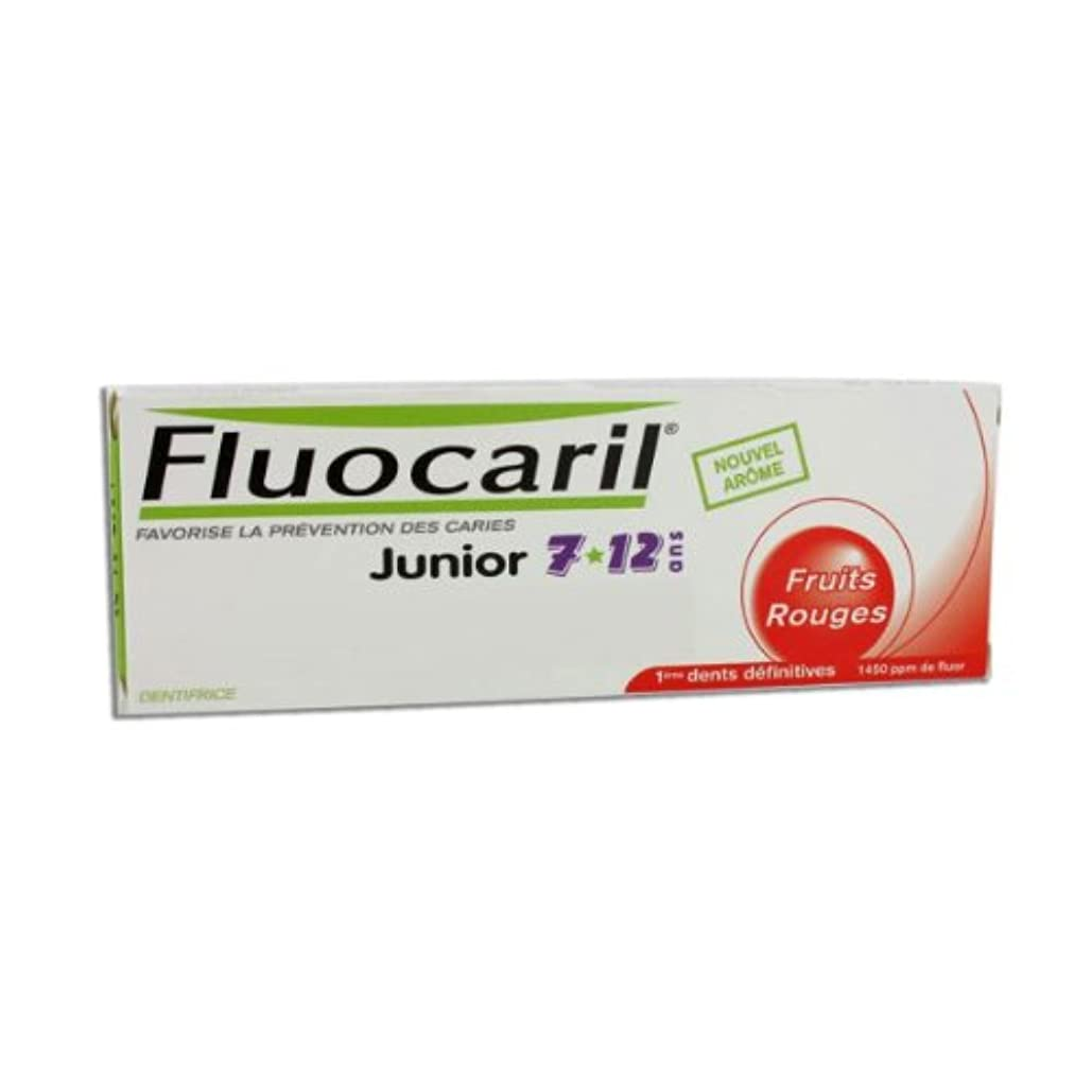 第四把握本体Fluocaril Junior 6 To 12 Toothpaste Red Fruits 50ml [並行輸入品]