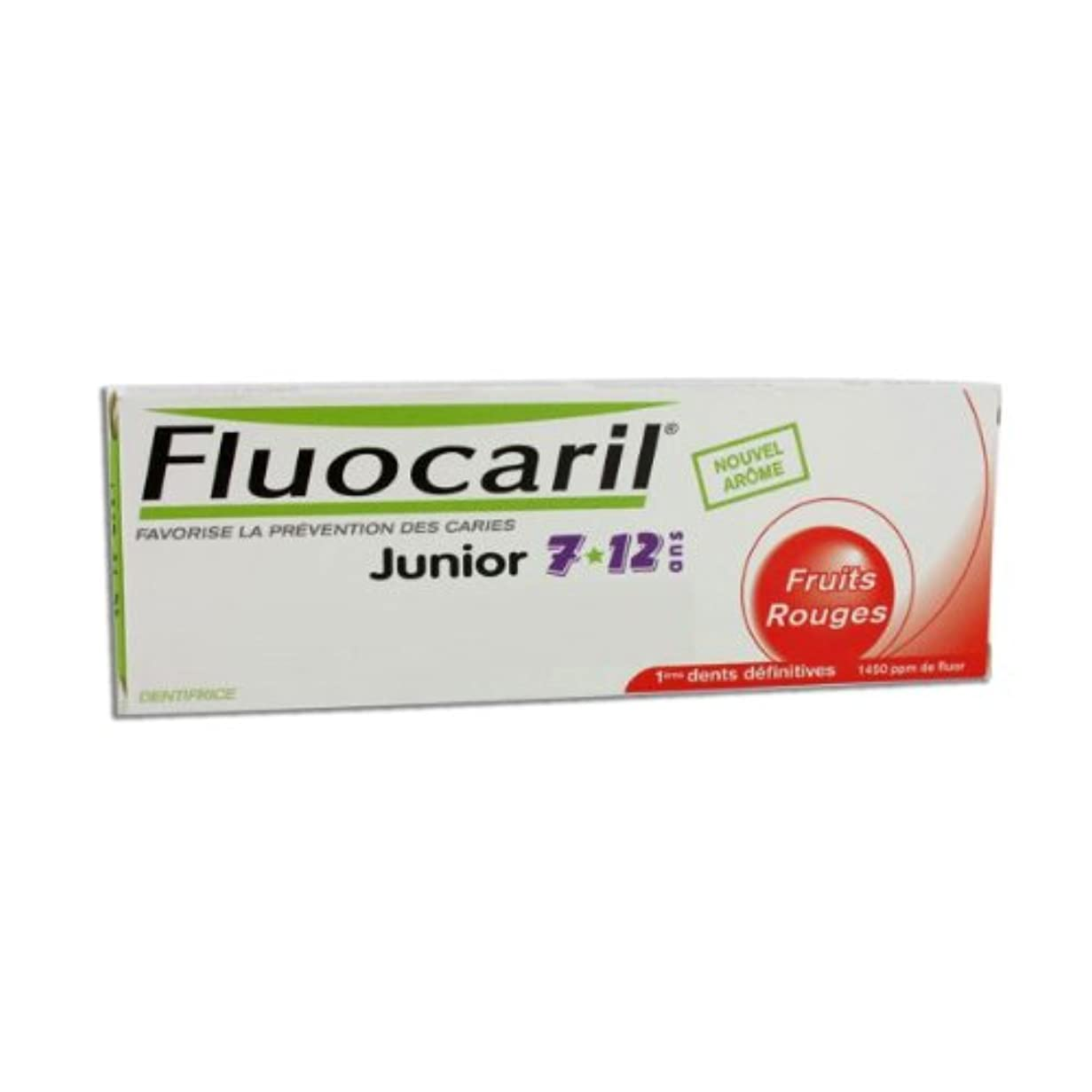 ノート緩む旧正月Fluocaril Junior 6 To 12 Toothpaste Red Fruits 50ml [並行輸入品]