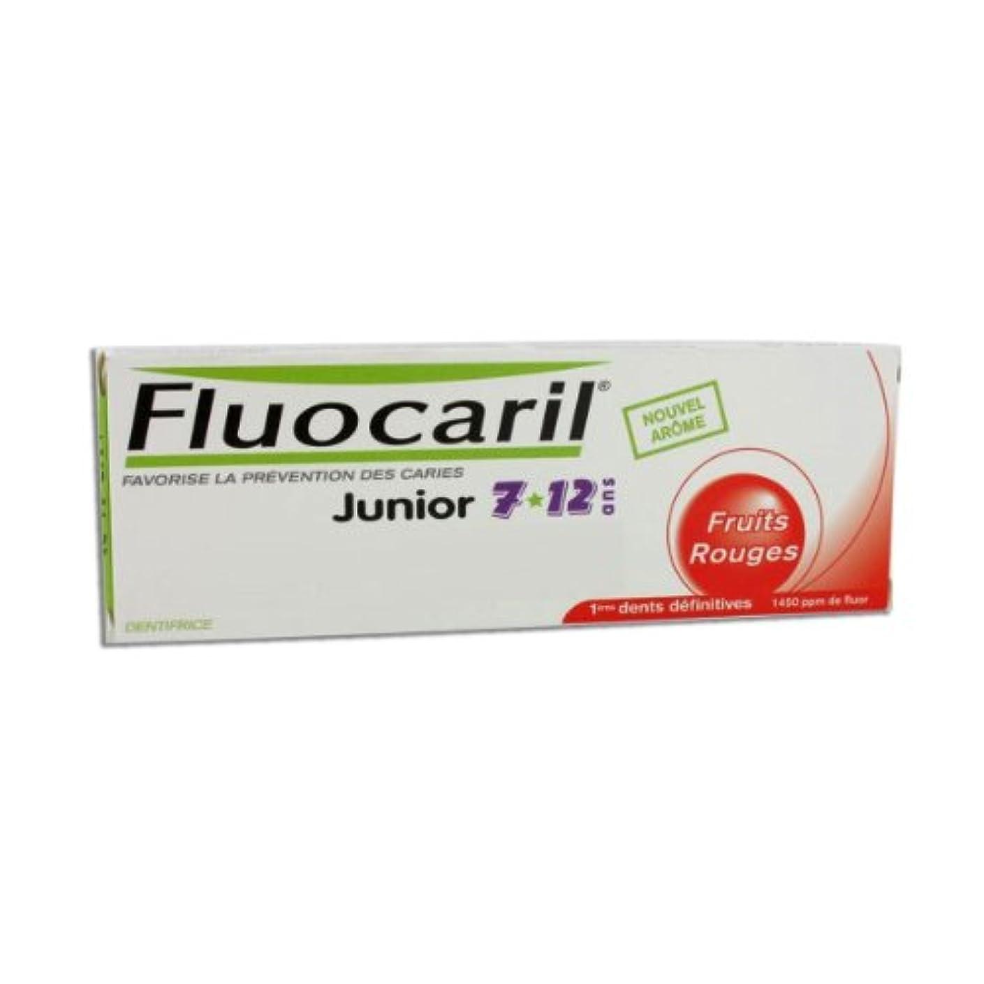 無知透明に虐殺Fluocaril Junior 6 To 12 Toothpaste Red Fruits 50ml [並行輸入品]