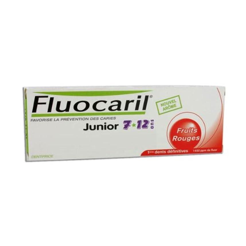 石炭飼いならすルーフFluocaril Junior 6 To 12 Toothpaste Red Fruits 50ml [並行輸入品]