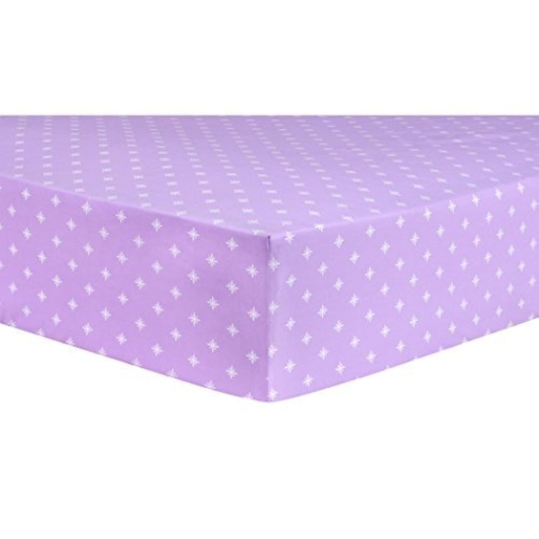 Trend Lab Stars Lavender Fitted Crib Sheet Purple White [並行輸入品]