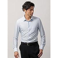 (ザ・スーツカンパニー) ノンアイロンジャージー素材/WE SUIT YOU/ワイドカラードレスシャツ ストライプ ブルー×ホワイト