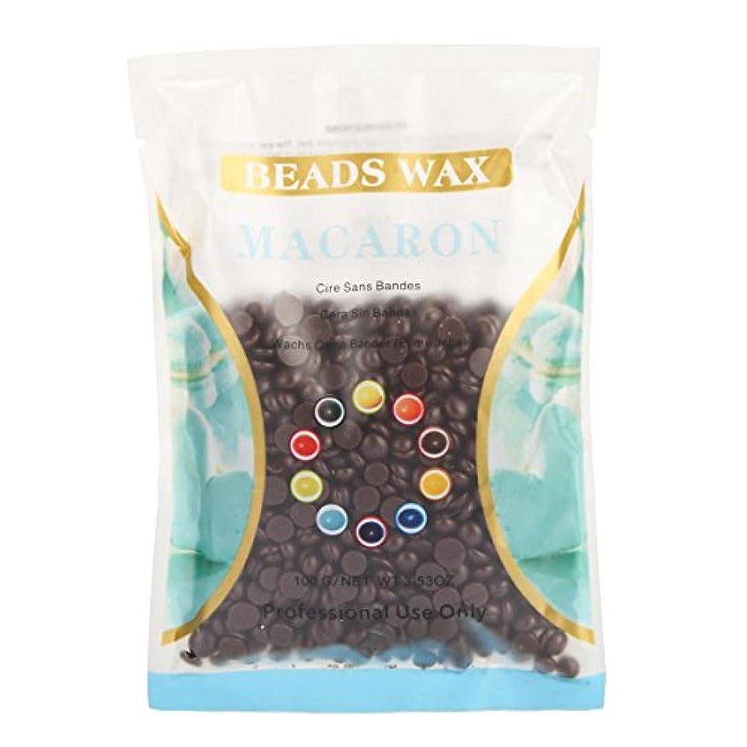 二池治療(アーニェメイ)Bonjanvye ワックス メンズ ハード 100g 脱毛 ワックス 鼻毛 ブラジリアン ハードワックス-チョコレート