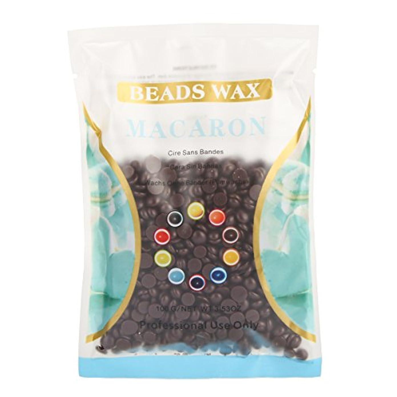 有毒束シャワー(アーニェメイ)Bonjanvye ワックス メンズ ハード 100g 脱毛 ワックス 鼻毛 ブラジリアン ハードワックス-チョコレート