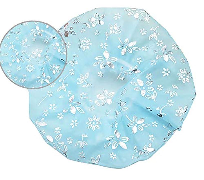 ブルーベル十普遍的なMaltose 防水シャワーキャップ シャワーきゃっぷ 温泉 化粧帽 油煙を防ぐ ふわふわ柔軟 色落ちしない 2枚セット