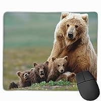 アニマル屋 マウスパッド 滑り良い 滑り止め 耐摩耗性 おしゃれ 熊 水洗い PC ラップトップ オフィス用 ゲーム向け レーザー&光学式マウス対応 250*300 *3mm (抗菌性・静電特性に優れています)