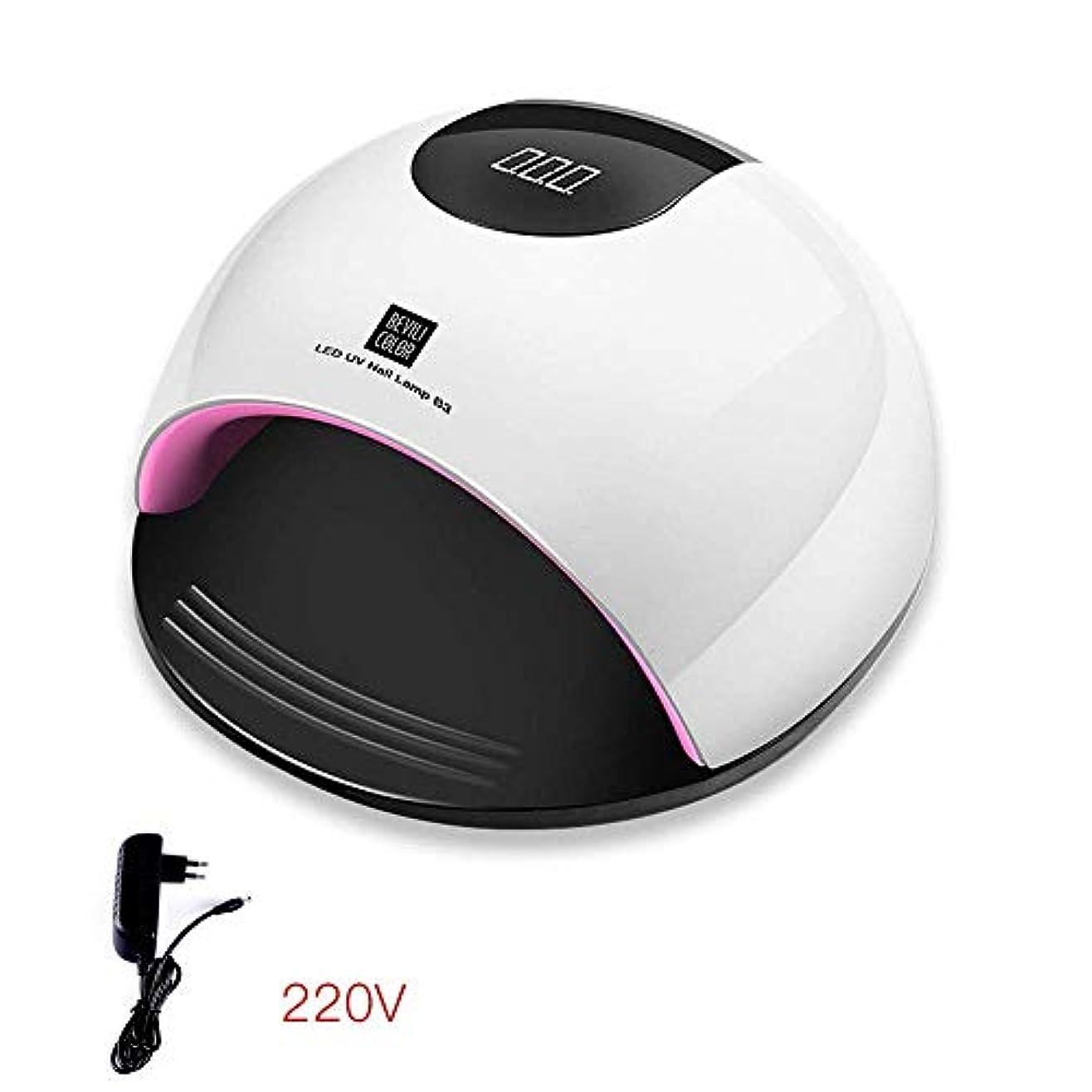 副溶かすホーン80ワットハイパワーネイル光線療法機は軽い速乾性ネイルランプ誘導ネイルベーキングランプドライヤー、ブルー (Color : White)