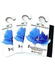 MERCURY ITALY 吊り下げるサシェ(香り袋) ACQUARELLO ヴァニラ&マルキーズの香り/VANIGLIA & MARQUISE 2枚入り×3パック [並行輸入品]