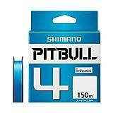 シマノ(SHIMANO) PEライン ピットブル 4本編み 150m 0.4号 スーパーブルー 8.6lb PL-M54R