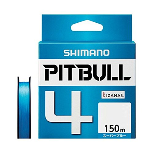 シマノ(SHIMANO) PEライン ピットブル 4本編み 150m 0.8号 スーパーブルー 17.8lb PL-M54R