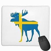 スウェーデンの国旗とムースラップトップマウスパッドマウスパッドマット