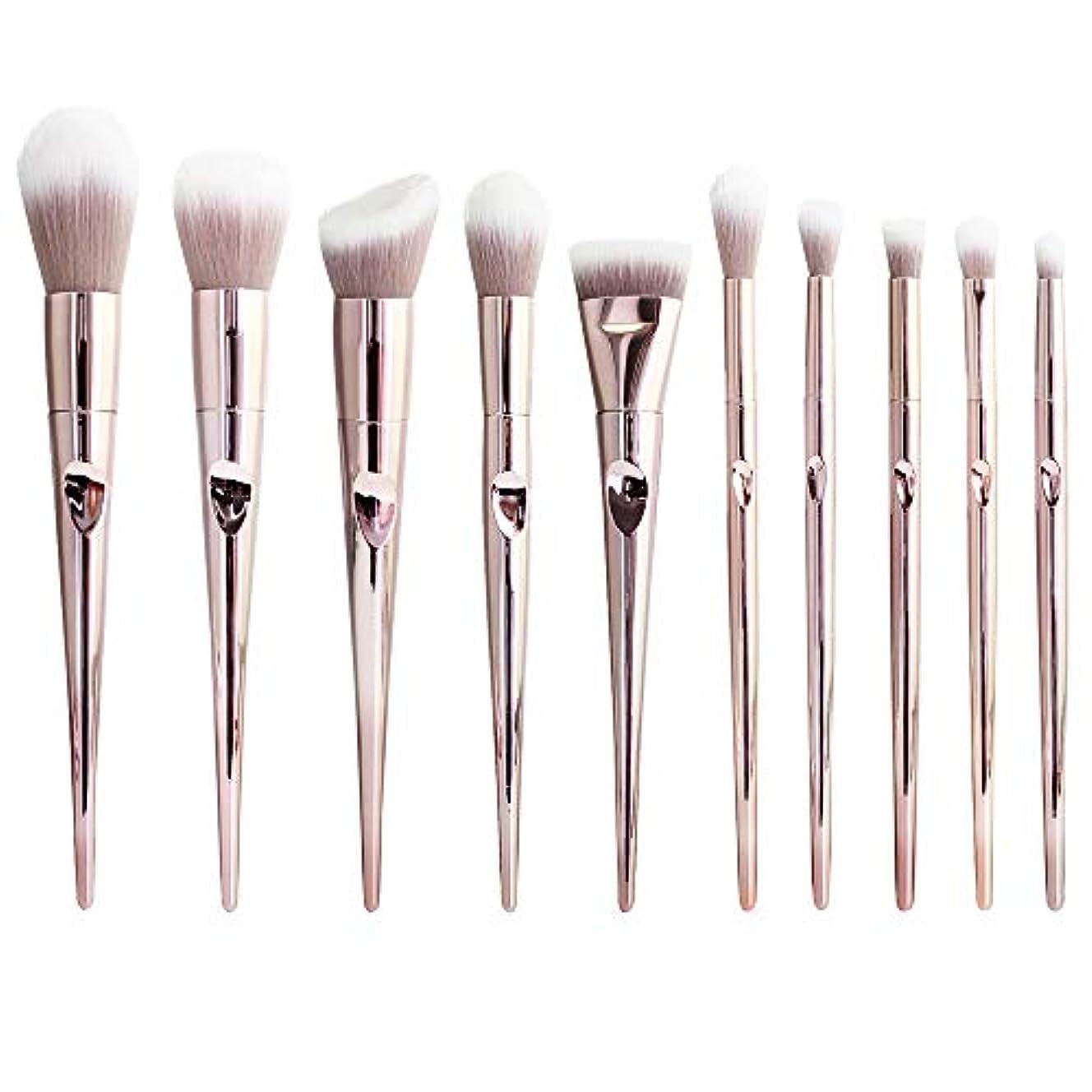 SUPER DREAM メイクブラシ 10セット 化粧ブラシセット 化粧筆 フェイスブラシ 全顔対応 高級ナイロン毛 超柔らかい メイク道具ブラシ