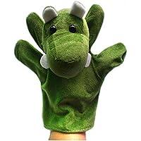 YChoice 興味深い指人形 おもちゃ ハンドパペット アヒル 子供用 プレイストーリー おもちゃ (クロコダイル)