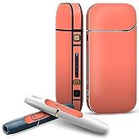 IQOS 2.4 plus 専用スキンシール COMPLETE アイコス 全面セット サイド ボタン デコ ピンク 単色 シンプル 012234