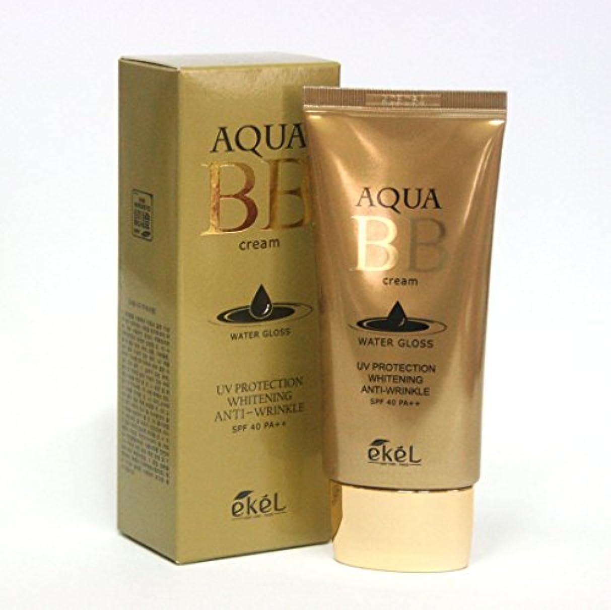 有害証書サスペンド[Ekel] アクアBBウォーターグロスクリーム50ml / Aqua BB Water Gloss Cream 50ml / ワイトニングアンチリンクルSPF40 PA++ / Whitening Anti-wrinkle...