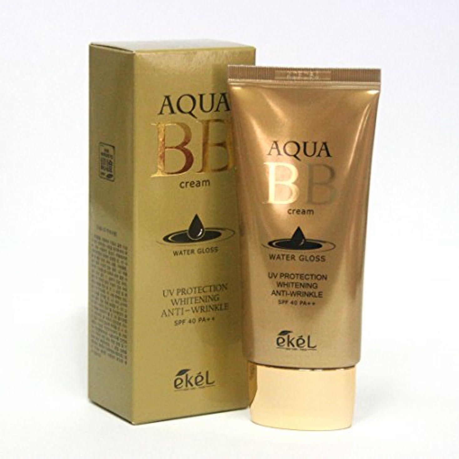 計算可能花輪計算[Ekel] アクアBBウォーターグロスクリーム50ml / Aqua BB Water Gloss Cream 50ml / ワイトニングアンチリンクルSPF40 PA++ / Whitening Anti-wrinkle...