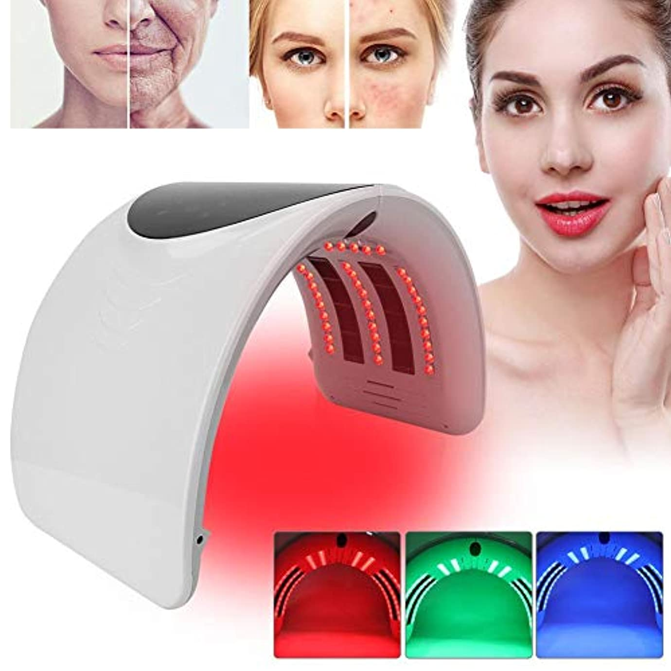 主婦影のある侮辱PDTの軽い療法の美顔術機械、6色の新しい折り畳み式アクネの取り外しのスキンケアの処置機械(01)