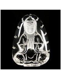 彫刻 水晶 観音様 素彫 28x48mm