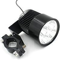 【三友記】汎用LEDフォグランプです バイク用ライト ランプ フォグランプ 爆光 L型 フォグランプ 20W LED ヘッドライト プロジェクター LED フォグランプ 外置き バイク用LED 防水 4連LED SM-163-WWD (ブラック)