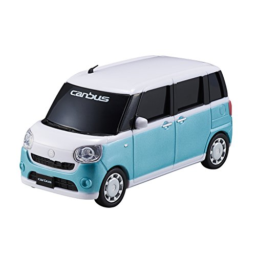 ダイハツ ムーヴ キャンバス(DAIHATSU Move canbus)1/32 プルバックミニカー 【2トーン】 パールホワイト�×ファインミントメタリック