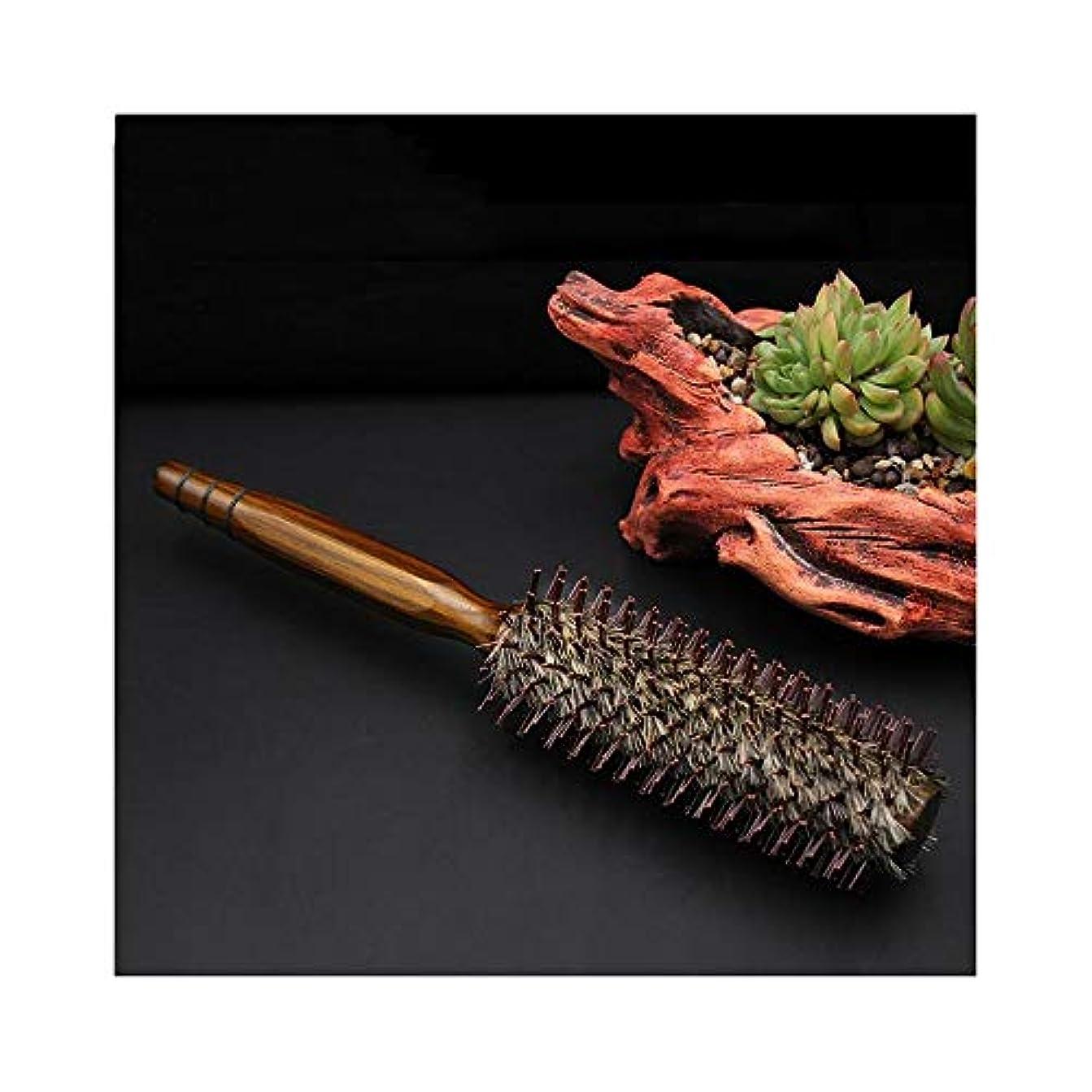 優れた今日聴くFashian毛ラウンドブラシ静電気防止フェラドライヤー&カーリングウッドロールコーム髪のくし ヘアケア (サイズ : M)