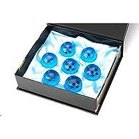 Cozyswan ドラゴンボール7点セット 神竜召喚 コスプレ用小物 おもちゃ 置き物 樹脂 BOX入り 人気 神龍召喚 プレゼント 贈り物 (ブルー)