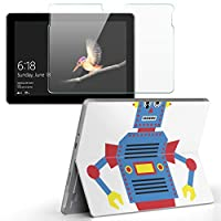 Surface go 専用スキンシール ガラスフィルム セット サーフェス go カバー ケース フィルム ステッカー アクセサリー 保護 ロボット キャラクター 014568