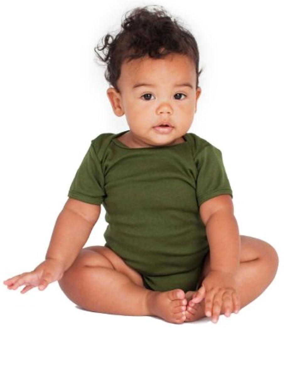 休日サドル注入するAmerican Apparel - 幼児赤ちゃんリブワンピース(4001)