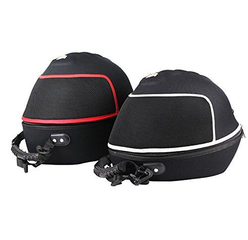 ベルメットバッグ ヘルメット収納可能 フルフェイスヘルメット収納可能 リアボックス トップケース 手持ち可能 ブラック (黒赤)