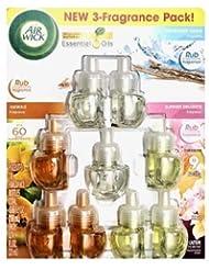 エアーウィック エッセンシャルオイル プラグイン 詰替ボトル フレグランス 芳香剤 AirWick 3 Scent Fragrance Bundle Pack Scented Oil Refills 3 Hawaii,...