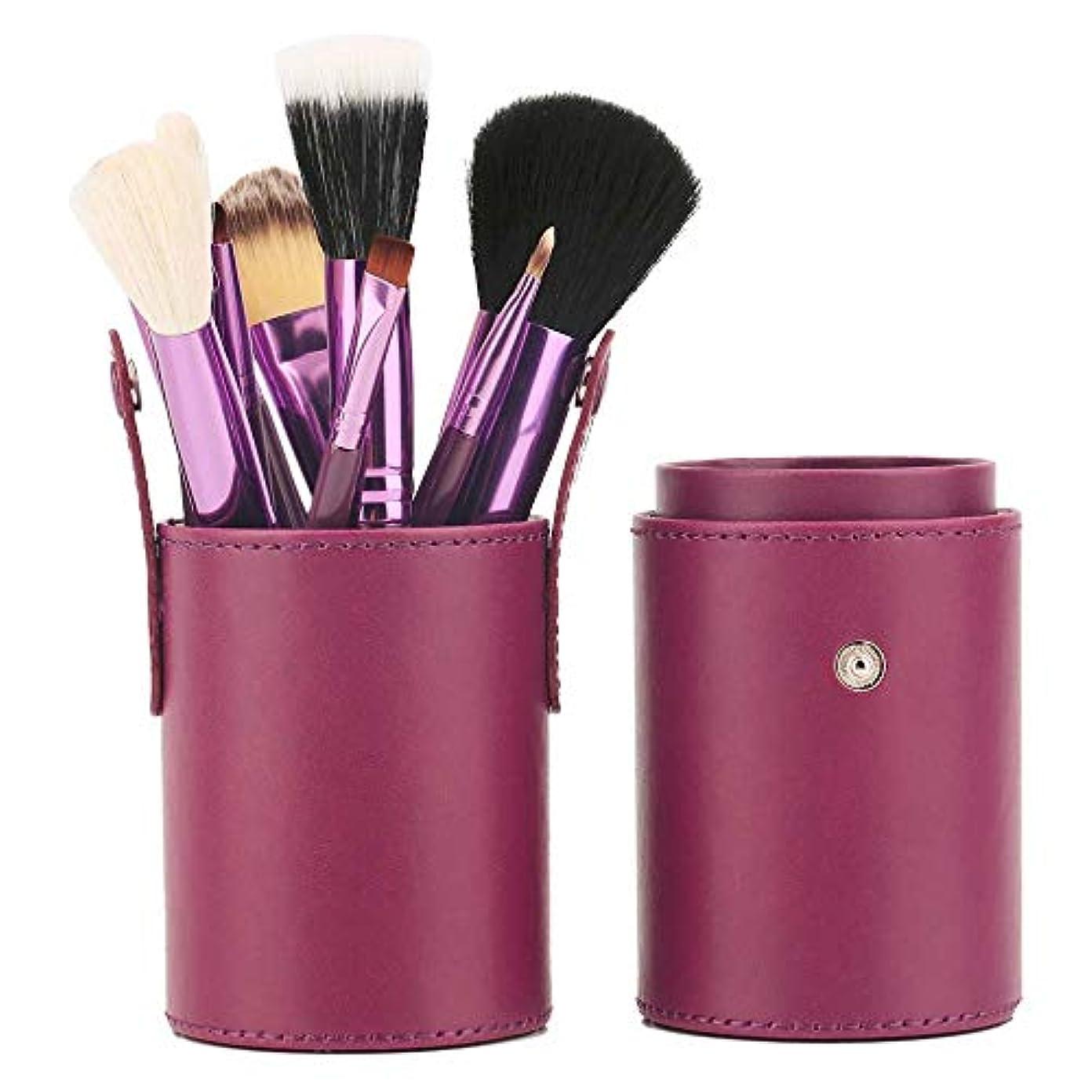 高尚なフェデレーション神経障害高品質プロフェッショナル12化粧ブラシセット化粧ブラシ,Purple
