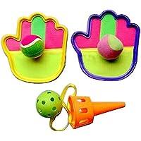 クラシックキッズトスとキャッチボールゲームセットキャッチボール玩具セット、オレンジ