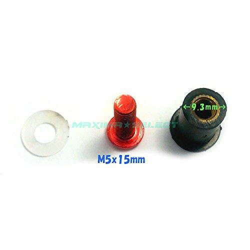 (maxima★select) スクリーンボルト ウェルナット 10個セット 赤 レッド ボルト M5