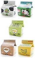 【神話広場】 牛乳パック 型 付箋 ふせん おもしろ メモ 5個 セット バナナミルク いちごミルク コーヒー牛乳 緑茶 牛乳