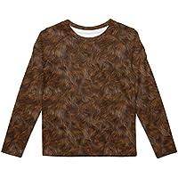 Rainbow Rules Wookie Fur Star Wars Inspired Kids Longsleeve Cotton Blend T-Shirt Unisex