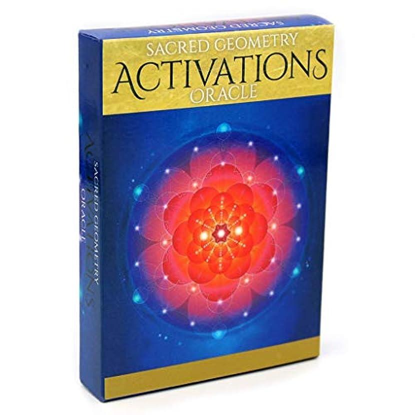 動物推進、動かすウィザードManyao 44枚 (Sacred Geometry Activations) タロットカードデッキとガイドブック運命の占い、フルイングリッシュボードゲーム、オラクルのトランプ