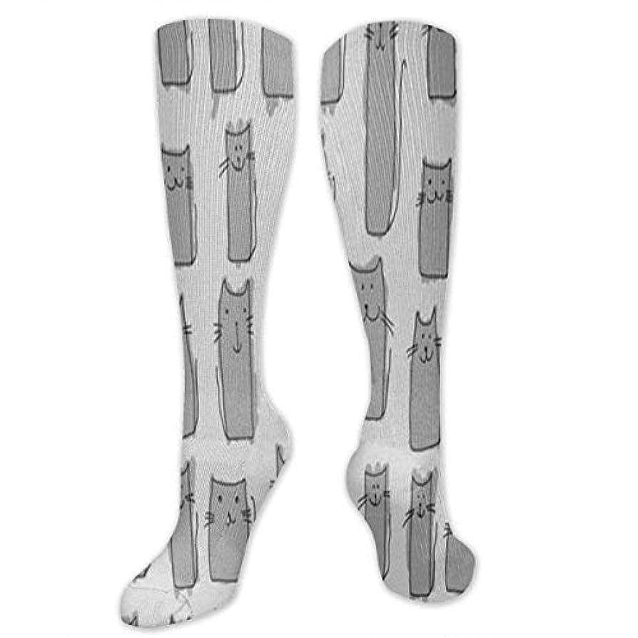 デッキしつけ靴下,ストッキング,野生のジョーカー,実際,秋の本質,冬必須,サマーウェア&RBXAA Grey Long Cat Socks Women's Winter Cotton Long Tube Socks Cotton Solid...